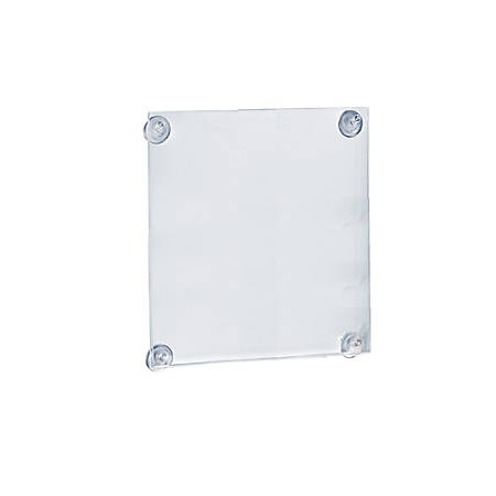 "Azar Displays Vertical/Horizontal Sign Frames With Suction Cups, 14"" x 11 1/2"", Clear, Pack Of 2"