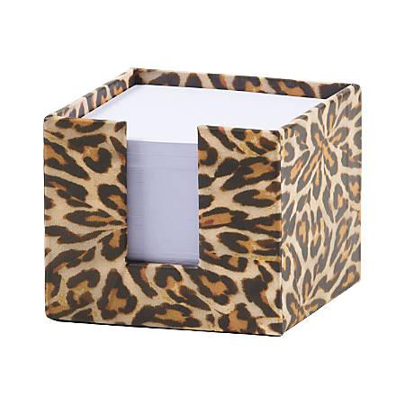 "Nicole Miller Memo Cube, 3"" x 3"", 600 Sheets, Leopard"
