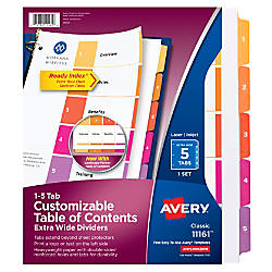 Avery Ready Index 30percent Recycled ExtraWide