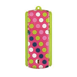 Ativa® Flip-Top USB Flash Drive With ReadyBoost™, 8GB, Polka Dots 2