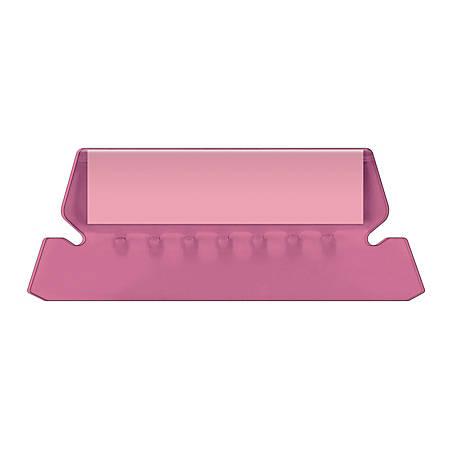 Pendaflex® Hanging File Folder Plastic Tabs, Pink, Pack Of 25
