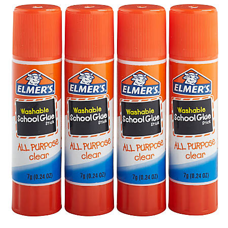 Elmer's® Washable School Glue Sticks, 0.24 Oz, Pack Of 4