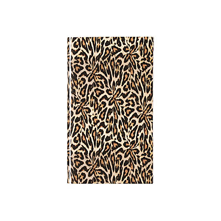 """Nicole Miller Monthly Planner, 3 5/8"""" x 6 1/8"""", 50% Recycled, Leopard, January - December 2016"""