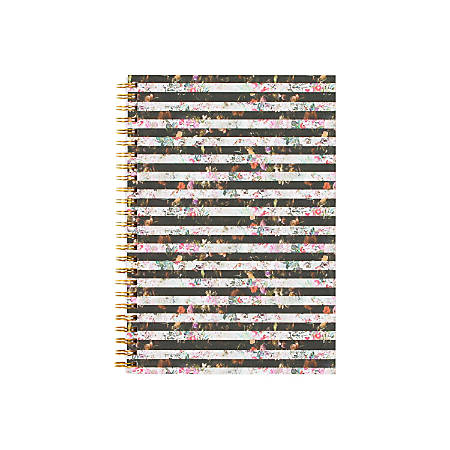 """Nicole Miller Wire-O Notebook, 5 3/4"""" x 8 1/2"""", Lined, 80 Pages, Garden"""