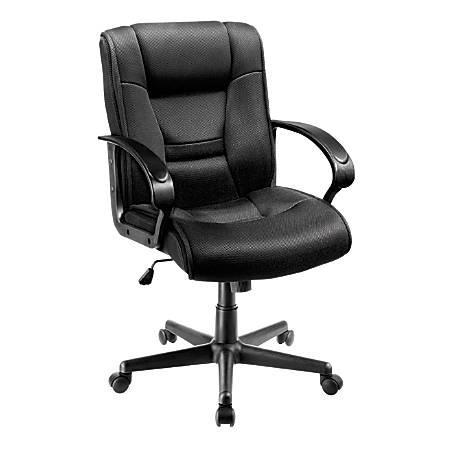 Brenton Studio® Ruzzi Mesh Mid-Back Chair, Black