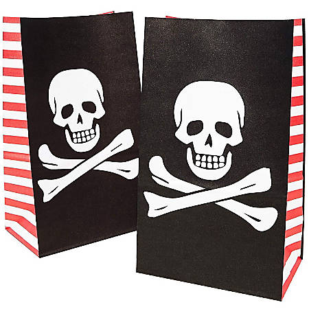 Juvale 36-Pack Pirate Party Favor Goody Bags For Treats And Goodies