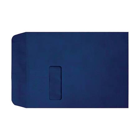 """LUX Open-End Window Envelopes With Peel & Press Closure, #9 1/2, 9"""" x 12"""", Navy, Pack Of 50"""