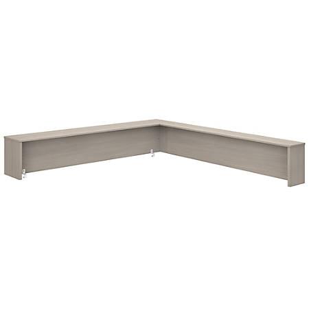 "Bush Business Furniture Studio C 72""W Reception Desk Shelf, Sand Oak, Premium Installation"