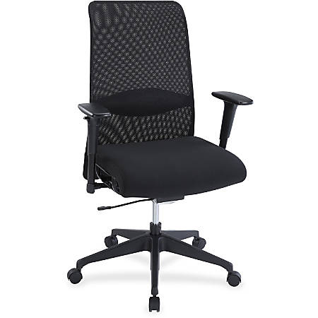 Lorell® High-Back Suspension Chair, Mesh/Fabric, Black
