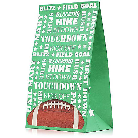 Juvale 36-Pack Football Paper Party Favor Gift Bags Party Supplies For Goodies, Candy, And Game Day Prizes, 5 X 8.5 X 3 Inches