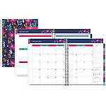 "Office Depot® Brand Happy Dahlias Weekly/Monthly Planner, 5"" x 8"", Floral, January to December 2019"