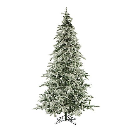 Fraser Flocked Mountain Pine Unlit Christmas Tree, 7 1/2', Snow