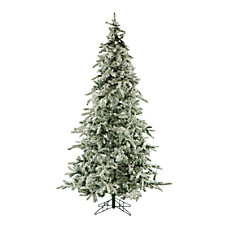 Fraser Flocked Mountain Pine Unlit Christmas