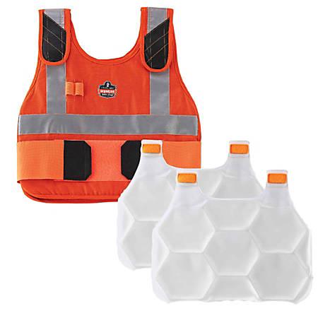 Ergodyne Chill-Its Phase Change Cooling Vest, Premium FR, Large/X-Large, Orange, 6215