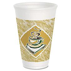 Dart Cafe G Design Foam Cups