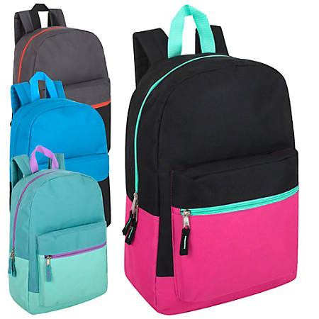 Trailmaker Backpacks, Assorted Colors, Case Of 24 Backpacks