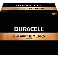 Duracell Coppertop Alkaline D Batteries Box