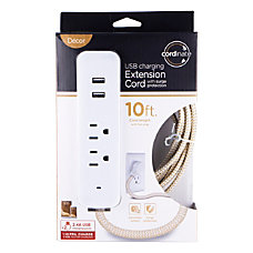 Cordinate 4 Outlet 16 Gauge USB