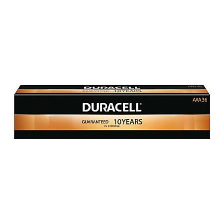 Duracell® Coppertop Alkaline AAA Batteries, Box Of 36 Batteries
