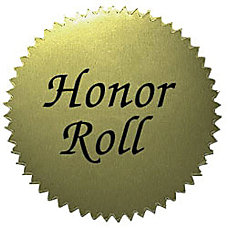 Hayes Honor Roll Certificate Seals 2