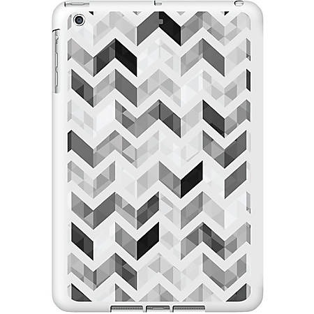 OTM iPad Air White Glossy Case Ziggy Collection, Grey