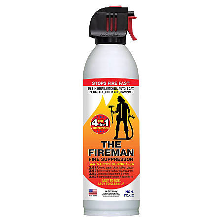 Bare Ground Solutions 1 Shot Fire Extinguisher In A Can, Class A - D, 8 Oz
