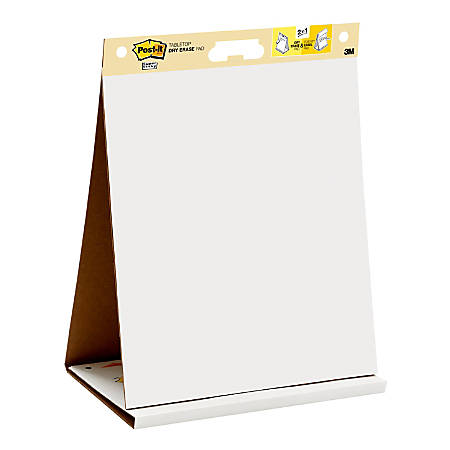 """Post-it® Notes Super Sticky Dry-Erase Tabletop Easel Pad, 20"""" x 23"""", Pad Of 20 Sheets"""