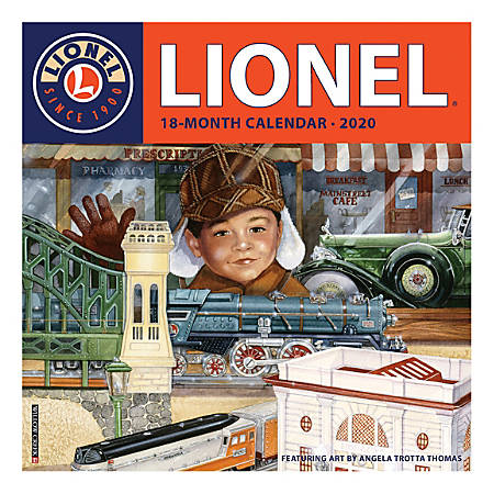 """Willow Creek Press Hobbies Monthly Wall Calendar, 12"""" x 12"""", Lionel, January To December 2020"""
