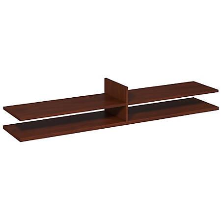 "Bush Business Furniture Components Elite 72""W Standing Table Desk Shelf Kit, 11 3/8""H x 68 13/16""W x 14 3/16""D, Hansen Cherry, Standard Delivery Service"