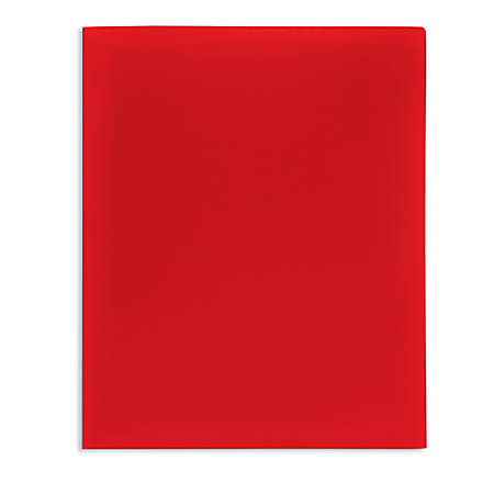 Office Depot® Brand School-Grade 2-Pocket Poly Folder, Letter Size, Red