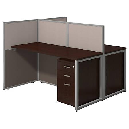 Bush Business Furniture Easy Office 60 W 2 Person Straight Desk ...