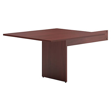 Basyx by HON® BL Series Rectangle Table End Piece, Mahogany