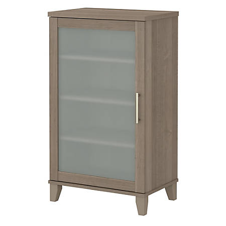 "Bush Furniture Somerset 24""W Media Storage Cabinet, Ash Gray, Standard Delivery"