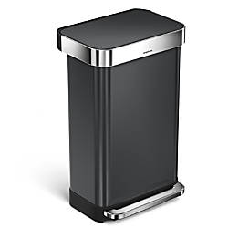 simplehuman Rectangular Stainless Steel Step Trash