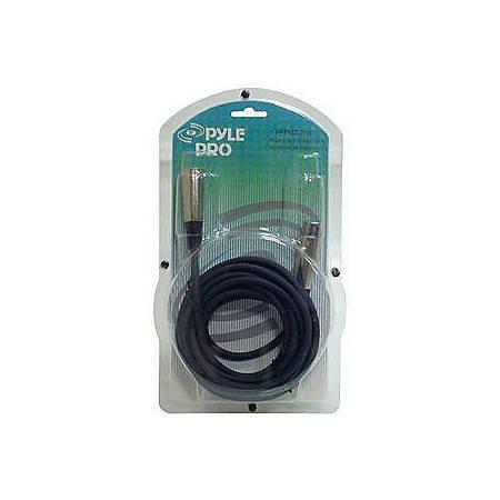 Pyle Microphone Cable - XLR Male - XLR Female - 15ft - Black
