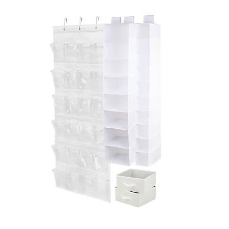 Honey-Can-Do 4-Piece Closet Organization Set, White