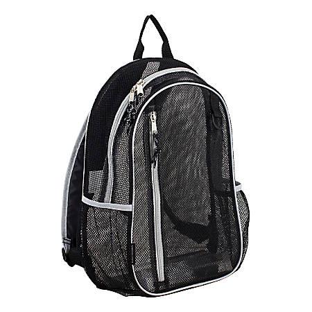 Eastsport Sport Mesh Backpack, Black/Silver