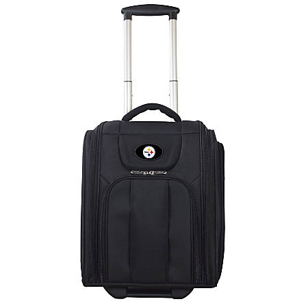 """Denco Sports Luggage Expandable Briefcase With 13"""" Laptop Pocket, Pittsburgh Steelers, Black"""