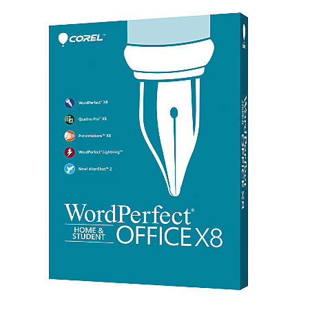 Corel® WordPerfect® Office X8 Home And Student Edition, Traditional Disc