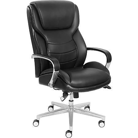 "La-Z-Boy ComfortCore Gel Seat Executive Chair - Faux Leather Black Seat - Faux Leather Black Back - 28.5"" Width x 32.8"" Depth x 48.3"" Height"
