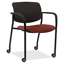 Lorell Mobile Contemporary PlasticFabric Stacking Chairs