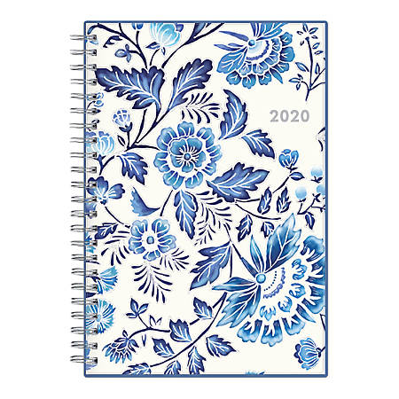 "Blue Sky™ Gabriella Frosted Weekly/Monthly Planner, 5"" x 8"", Multicolor, January To December 2020, 118538"