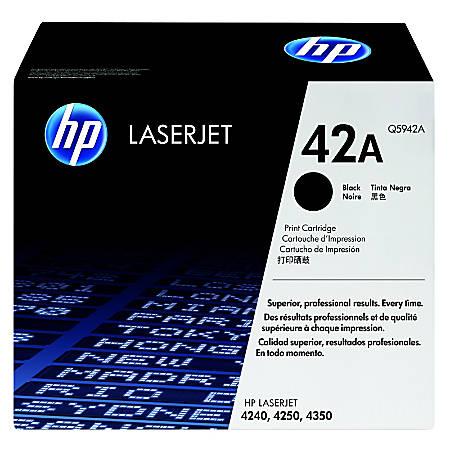 HP 42A, Black Original Toner Cartridge (Q5942A)