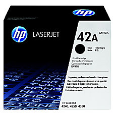 HP 42A Black Original Toner Cartridge