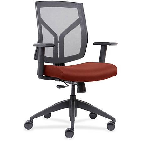 Lorell® Mesh/Fabric Mid-Back Chair, Orange/Black