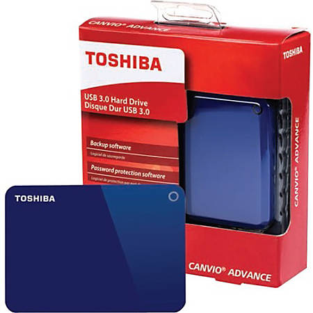 "Toshiba Canvio Advance 2 TB Portable Hard Drive - 2.5"" External - Blue - USB 3.0 - 2 Year Warranty"