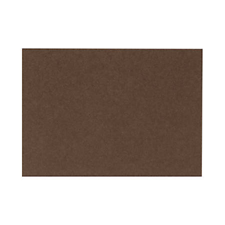 """LUX Mini Flat Cards, #17, 2 9/16"""" x 3 9/16"""", Chocolate Brown, Pack Of 1,000"""