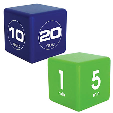 Teledex TimeCube Fitness Combo Pack, 10-60 Seconds And 1-15 Minutes