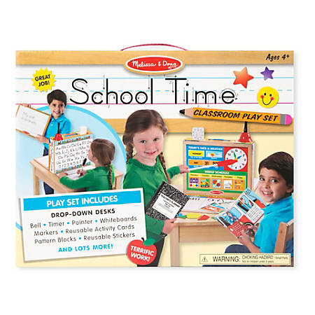 Melissa & Doug Educational Toy, School Time Classroom Playset