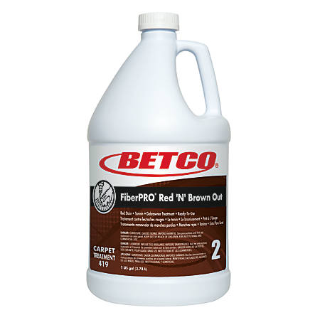 Betco® FiberPRO® Red 'N' Brown Out Carpet Treatment, 1 Gallon, Case Of 4
